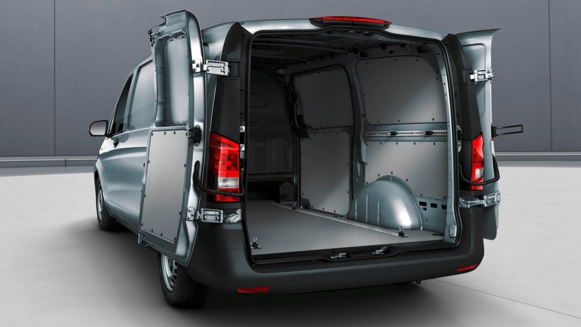 eVito Panel Van, double-wing rear doors, opening to sidewall
